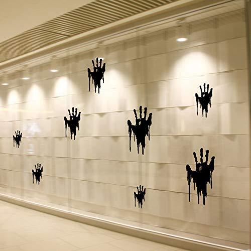 Wall Sticker TAOtTAO Halloween Handabdrücke abnehmbare Wand Aufkleber Zitat Kunst DIY Aufkleber Wandbild Dekor