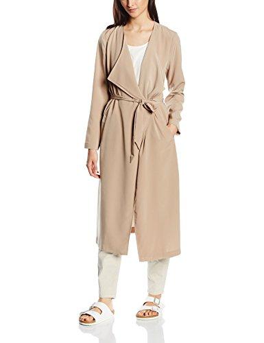 ONLY Damen Mantel Onlnew Lizzy Protracted Coat Otw, Braun (Silver Mink), 38 (Herstellergröße: M)