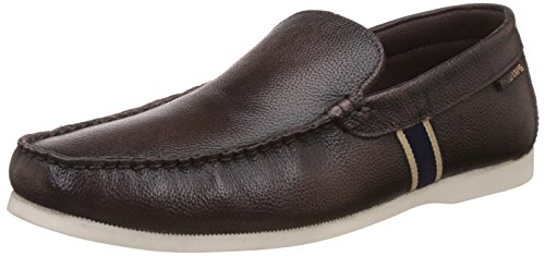 Red Tape Men's Brown Leather Boat Shoes - 7 UK/India (41 EU)