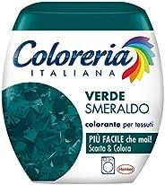 Coloreria Italiana Grey Colorante Tessuti e Vestiti in Lavatrice, Verde Smeraldo, 1 Confezione