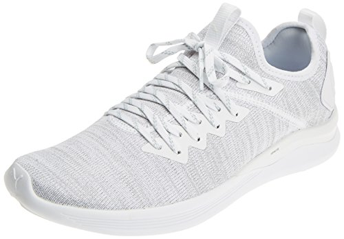 Puma Herren Ignite Flash Evoknit Cross-Trainer, Weiß White, 43 EU
