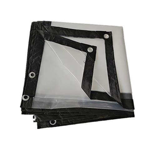 DENGJU Transparente wasserdichte Plane, Kunststoff Isolierung Tuch Balkon Regen Vorhang Ernte Abdeckung Wasserdicht Poncho-120g / m² (Size : 4 * 5m)