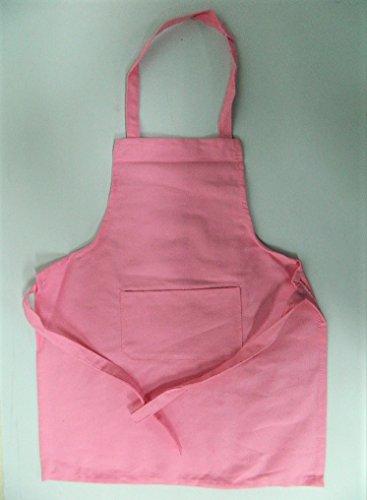 Tablier de cuisine enfant fille à bavette bistro rose