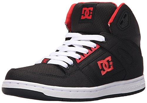 DC Junge Frauen Rebound Hohe Tx Hallo Top-Schuhe, EUR: 36, Black/Poppy Red (High Damen Schuhe Dc Skate)