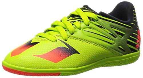 adidas - Messi 15.3 In J, Scarpe da calcio Unisex – Bimbi 0-24 Verde / rosso / nero (Seliso / Rojsol / Negbas)