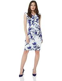 eb35720d87d Roman Originals Damen Kleid mit Blumen-Print und V-Ausschnitt - Damen  ärmellose