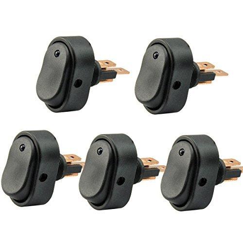 Lot de 5 interrupteurs à bascule bleus par AutoEC, 30 amp, 12 V, pour voiture, moto, bateau