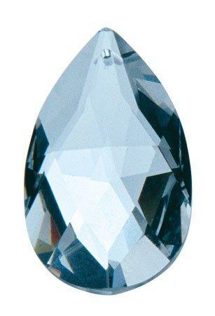 Preisvergleich Produktbild Deko Anhänger Kristall Bleifrei, Tropfen 50 mm groß, transparent glizernd, Bleikristall zum hängen, Fensterdekoration
