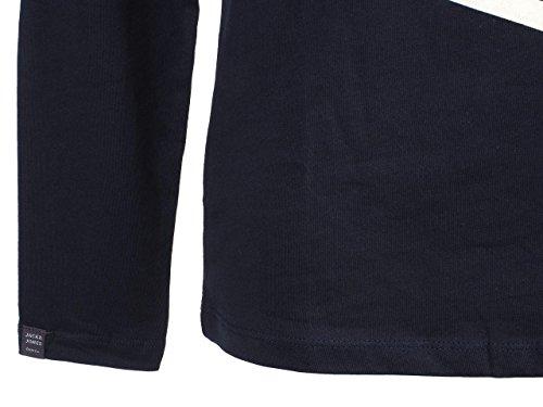 Jack & Jones Herren Langarmshirt Bleu marine / bleu nuit