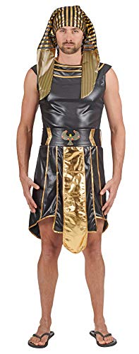 Ägypter Alten Kostüm - Andrea Moden 440-46/48 Ägypter-Kostüm, Unisex- Erwachsene, gold-schwarz, 46/48