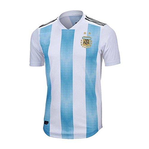 SODIAL Ropa deportiva de Copa Mundial para hombres Camiseta de futbol de Argentina Camisa de manga corta transpirable Uniformes de Jerseys Chandal de equipo de futbol de pareja (Hombres, L)