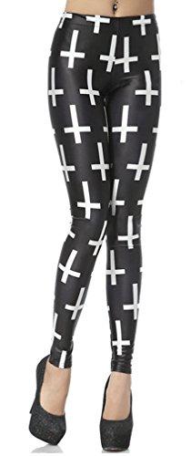 Thenice - Legging - Femme Multicolore bigarré taille unique Cross