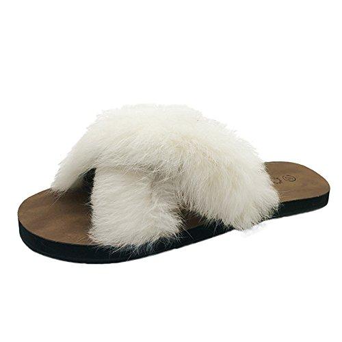 HausschuheDamen Winter Wärme Plüsch Flache Stiefel DOLDOA Pantoffeln Slipper