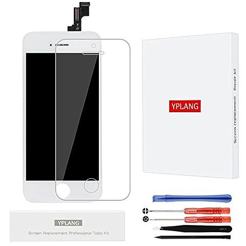Ecran LCD iPhone SE Blanc Remplacement-YPLANG (2017 Nouveau) Inclure Ecran Tactile Display Complet pour iPhone SE Blanc et Outils Spécial et Film Trempé iPhone SE (4.0