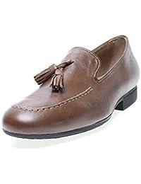 Zapatos Pitillos 833 - Mocasín Piel Borlas Camel