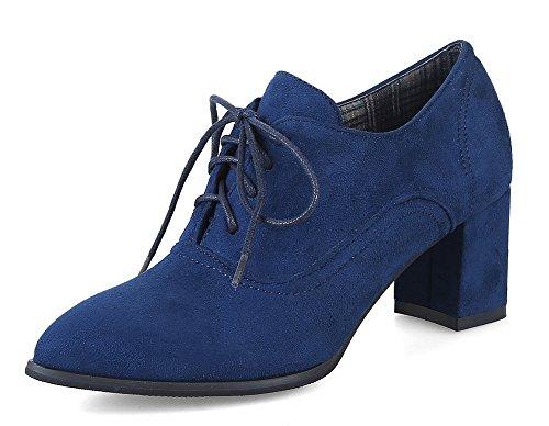 Easemax Classico Oxford Indicata Tacco Punta Blu Donna rrCXwq6d
