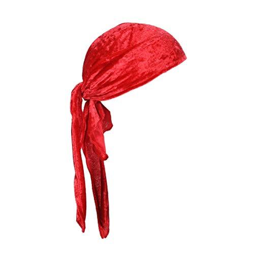 Kostüm Piraten Bandana - Thetru Piraten-Kopftuch in rot | Einheitsgröße Erwachsene | Piraten-Bandana für Freibeuter-Kostüme zu Karneval und Fasching