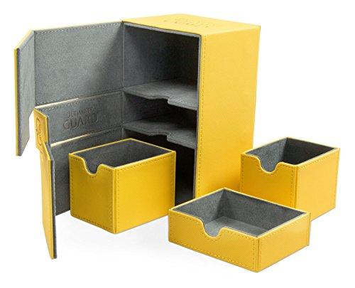 Ultimate Guard UGD010652 Nein Twin Flip'n'Tray Deck Case 160+ Standard Size Xenoskin Amber, Spiel (Twin Deck Case)