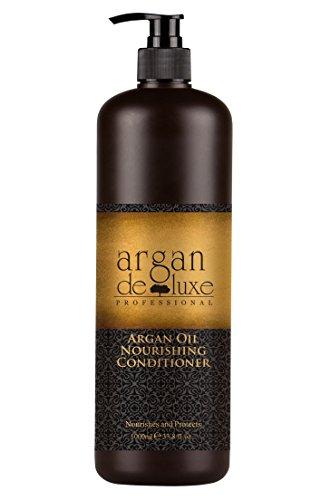 Feuchtigkeitsspendende Feuchtigkeitsspendende Haar-conditioner (Arganöl Conditioner in Friseur-Qualität ✔ stark pflegend ✔ Geschmeidigkeit, Glanz, toller Duft ✔ Argan DeLuxe, 1000ml)