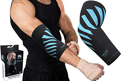 6400917441 Physix Gear Elbow Brace For Tendonitis - Best Compression Arm Sleeve,  Tennis Elbow Brace &