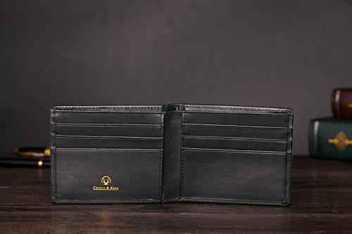 41Bl5FEhflL - Cronus & Rhea® | Luxury Money Clip Exclusive Leather (Ladon) | Card Holder - Card Case - Purse - Wallet | Real leather | With elegant gift box | Men - Women