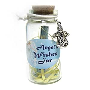 Angel Wishes Jar with Angel Trinket 6cm by Big Bargain Store