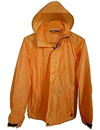 Baleno veste pluie - orange - taille s - ref grena 576B - veste de pluie - capuche - fermeture zip et pression -
