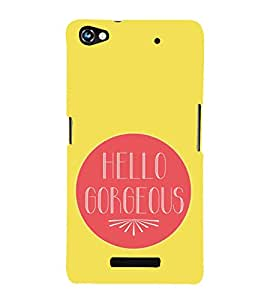 Hello Gorgeous 3D Hard Polycarbonate Designer Back Case Cover for Micromax CanvasHue2A316