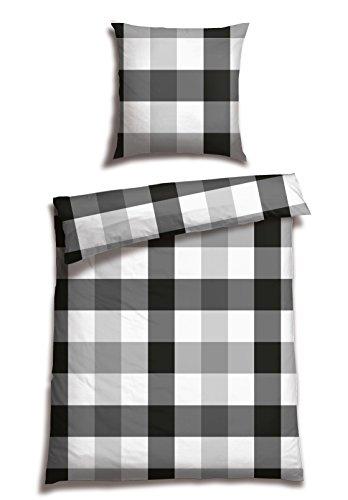 Preisvergleich Produktbild Schiesser Renforcé Bettwäsche Tass Karo / 135 x 200 cm / 2-teilig / 100% Baumwolle