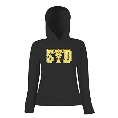 SYD Premium Hoody | Airport-Hoody | Sydney | Reisen | Frauen | Kapuzenpullover © Shirt Happenz Schwarz