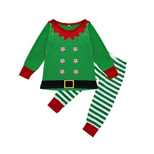 + 1 STÜCK Hosen Herren Frauen Baby Nachtwäsche Frohe Weihnachten Streifen Print Trainingsanzug Familie Passender Kleidung Outfits Nachtwäsche ()