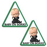 SkinoEu® 2 x Adesivi Vinile Stickers Autoadesivi Decalcomania Baby On Board Bambino Bimbo a Bordo Adesivo Safety Sign Car Sicurezza Adesivi per Auto Moto Finestrino Finestro Porta B 175