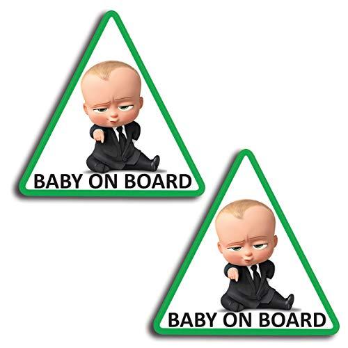 2 x adesivi vinile stickers autoadesivi decalcomania bebè a bordo baby on board bambino bimbo a bordo adesivo safety sign car sicurezza adesivi per auto moto finestrìno finestro porta b 175