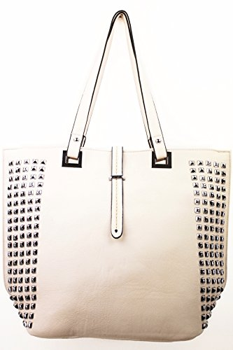 Dettare Arte Designer Rocker Shopper Vari Modelli Top Borchie Rocker Shopper Créme