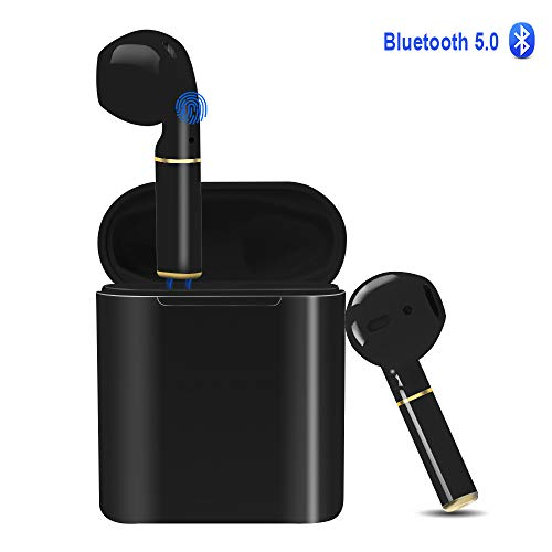 YZPUSI Cuffie Bluetooth 5.0 Auricolari Headphones, Tocca Controllo Custodia Senza Fili Wireless Cuffie Bluetooth Mini Auto Earbuds con Microfono Waterproof Stereo per Smartphones Huawei Xiaomi