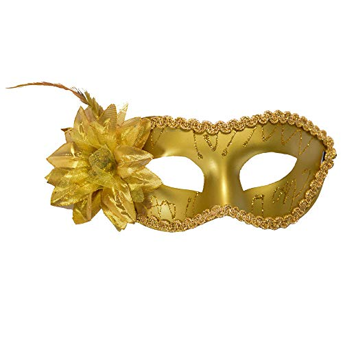 Modaworld maschera di carnevale pizzo e fiorito veneziana ballo in maschera da donna