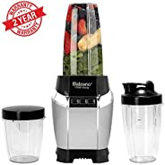 Balzano High Speed Nutri Blender/Mixer/Smoothie Maker - 1200 Watts - 09 Pcs Set; Silver