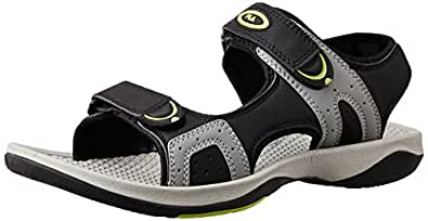 Fila Men's Jacopo Black, Grey and Green  Sandals and Floaters -10 UK/India (44 EU)