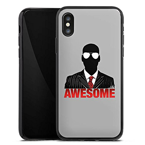 Apple iPhone X Silikon Hülle Case Schutzhülle iHausparty Merchandise Fanartikel Youtuber Silikon Case schwarz