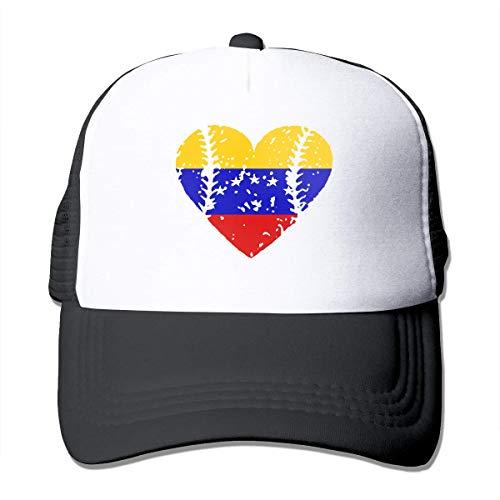Voxpkrs Baseball Heart Venezuela Flag Adjustable Mesh Trucker Baseball Cap Men Women Street Rapper Hat Cool1990