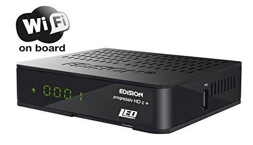 Edision progressiv HDc + nano plus LED Full HD Satelliten-Receiver (HDMI, Scart, USB 2.0, Wifi, Conax Kartenleser, Display) schwarz