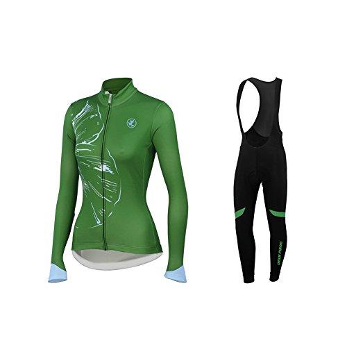 UGLYFROG #01 Damen Radsport Winter Fleece Trikots Lange Ärmel+ Lange Hosen Anzüge Sport & Freizeit Clothes (Damen Hardy Anzug Ed)