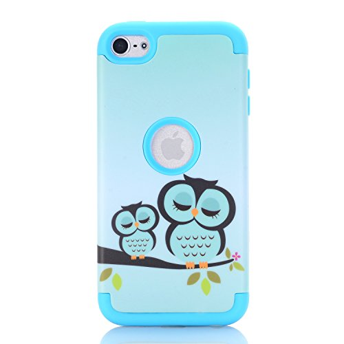 iTouch 5, iPod Touch 6Fall, savyou Colorful Series Heavy Duty High Impact Armor Case Schutzhülle Hülle Tasche für Apple iPod Touch 56. Generation, Gowl-Blue (High Impact Hybrid-ipod 5 Fällen)