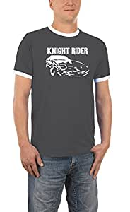Knight Rider Contrast T-Shirt S-XXL Various Colours darkgrey/white Size:S