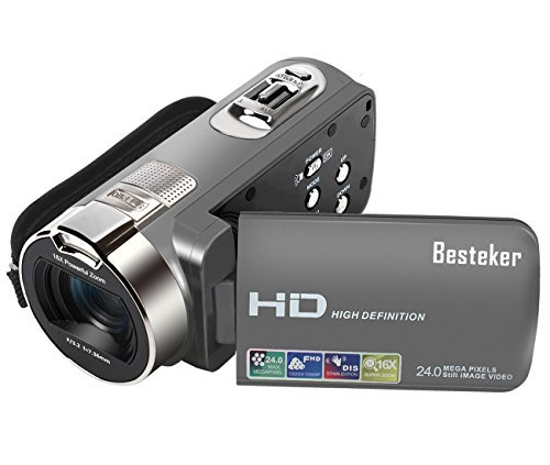 Besteker portable video camera 24 million pixel hd1080p 16 times digital jp f/s