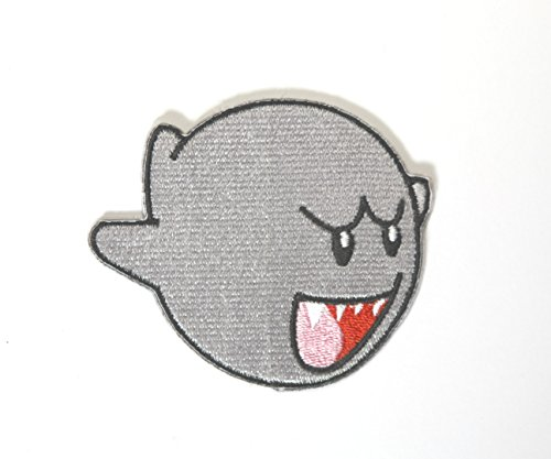 coolpart New Arrival Ghost Boo Super Mario Spiel bestickt Patch Aufbügeln/Aufnähen Auf Kleidung Cartoon Stickerei Patch Badge perfekt Patches Fußball-gewicht Weste