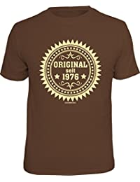 Original RAHMENLOS® Geschenk-T-Shirt zum 40. Geburtstag: Original seit 1976