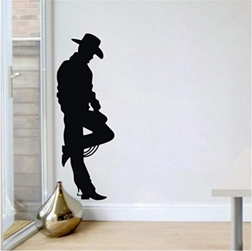 West Cowboy Schwarz Charakter Junge Zimmer Vinyl Wandtattoo Wandbild Kunst Wandaufkleber Bar Livng Zimmer Schlafzimmer Haus Dekorative 55 * 160 cm