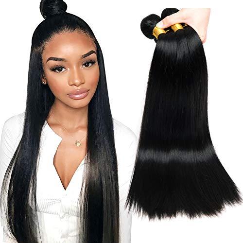 Musi tissage bresilien boucle bresilien lisse tissage en lot 3 meche bresilienne straight Hair grade 8A humain cheveux naturel 300g 14 16 18