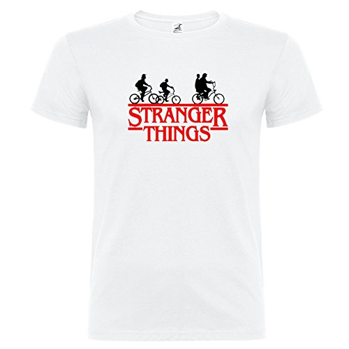 Bikerella t-shirt manica corta unisex stranger things by bianco/color 11/12 anni